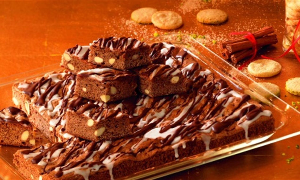 choco almond brownies
