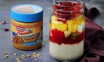 Peanut Butter & Jam Overnight Oats