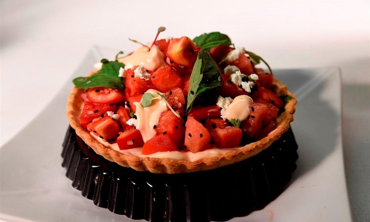 watermelon tomato tart