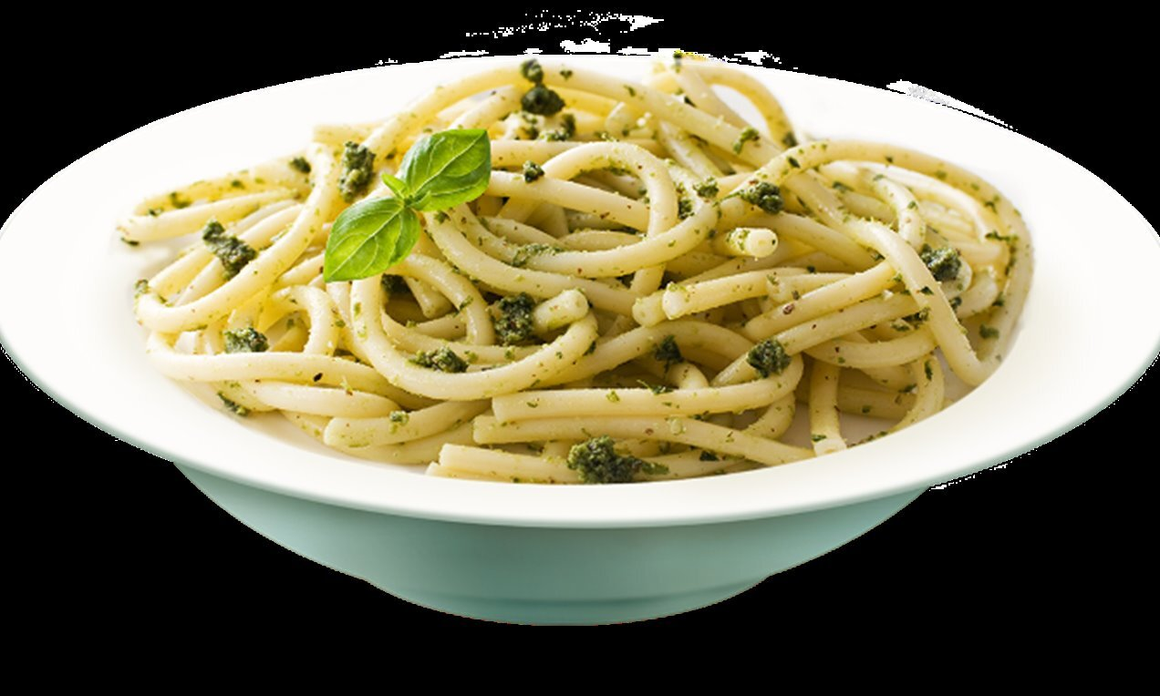 spaghetti with pesto verde