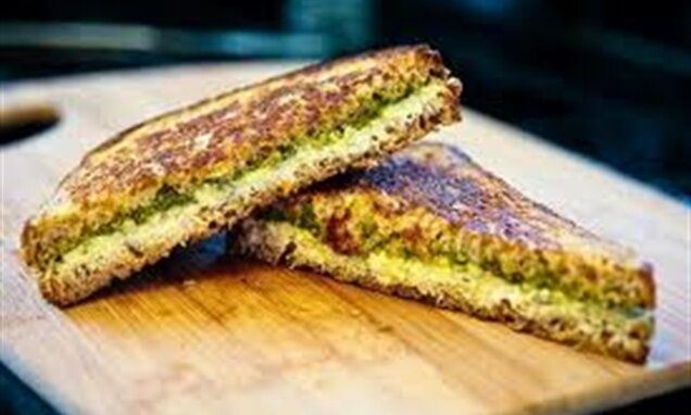 Cream Pesto Sandwich