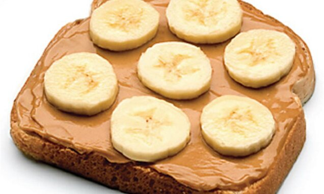 peanut butter banana open toast